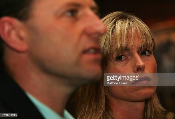 Kate and Gerry McCann speak to the media during a press conference to anounce that they have been cleared of being formal suspects on the...