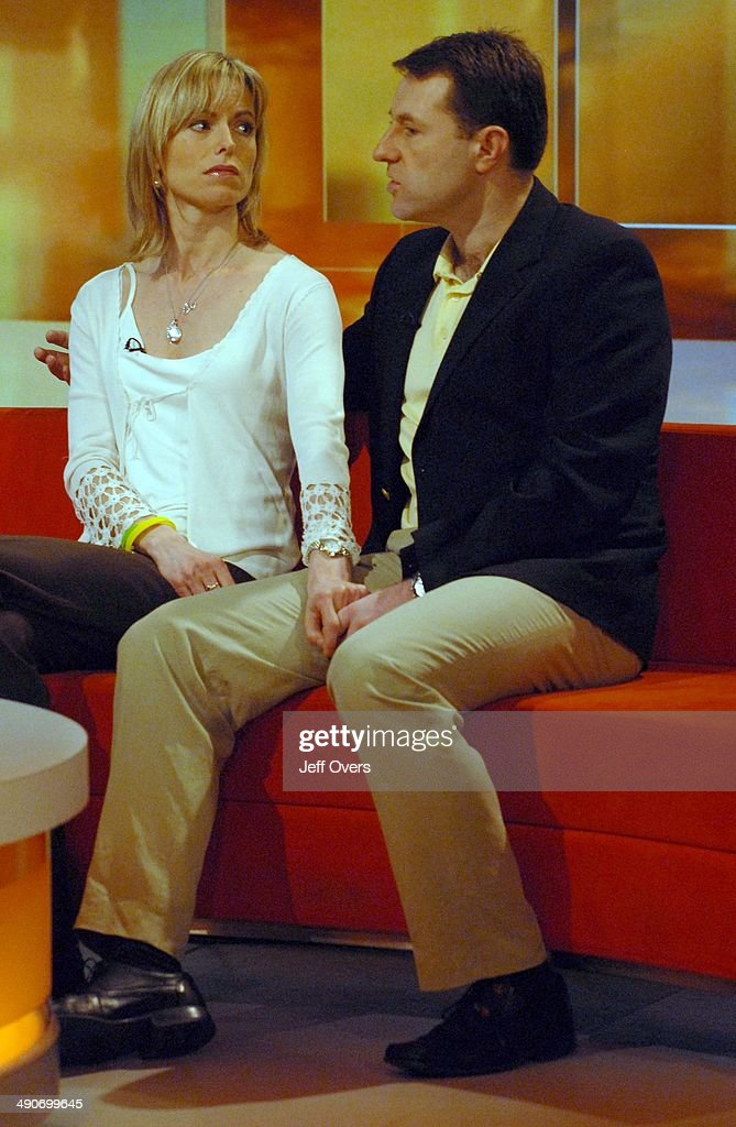 Kate and <a gi-track='captionPersonalityLinkClicked' href=/galleries/search?phrase=Gerry+McCann&family=editorial&specificpeople=4278561 ng-click='$event.stopPropagation()'>Gerry McCann</a> talk on BBC Breakfast this morning, their first interview since last year; it is the anniversary week of Madeleine McCann going missing. 1st May 2008
