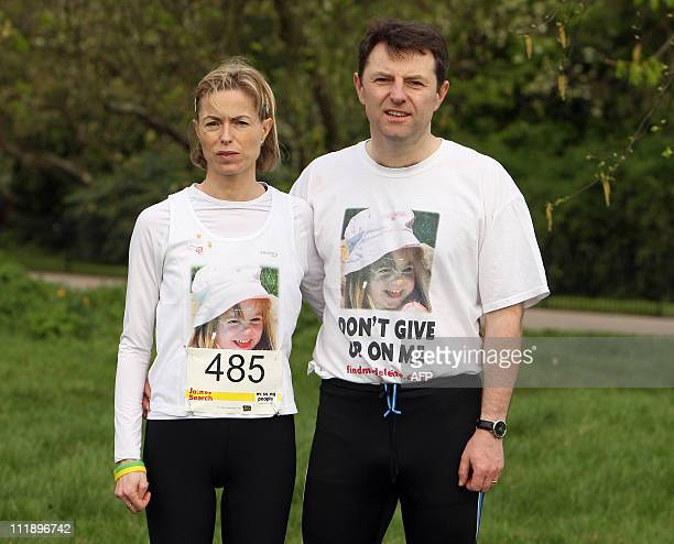 Kate and Gerry McCann whose daughter Madeline McCann vanished while on a family holiday in Portugal almost four years ago pose before the start of...