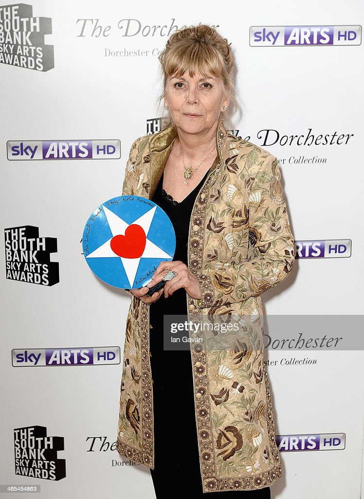 Kate Atkinson with her Best Literature award during the South Bank Sky Arts awards at the Dorchester Hotel on January 27, 2014 in London, England.
