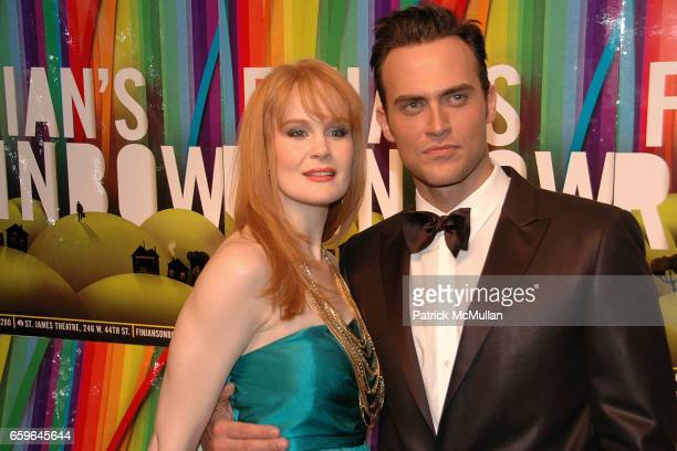 Kate Baldwin and Cheyenne Jackson attend FINIAN'S RAINBOW Broadway OPENING After Party at Bryant Park Grill on October 29 2009 in New York