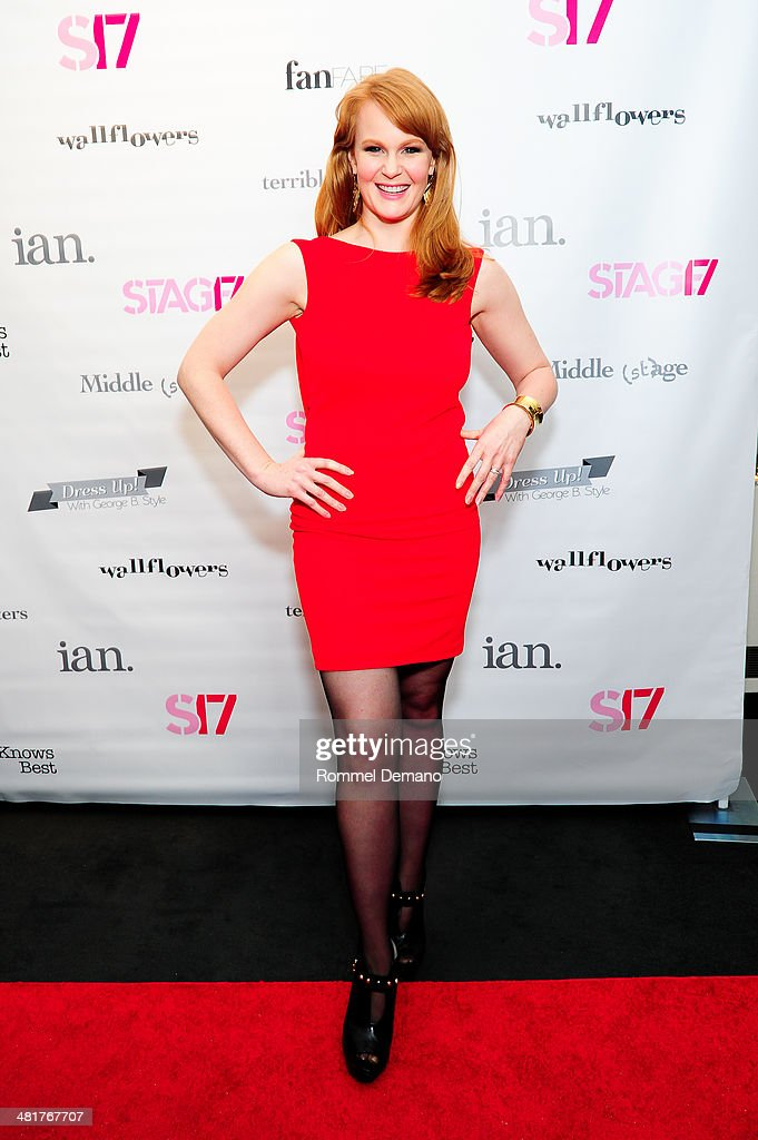 <a gi-track='captionPersonalityLinkClicked' href=/galleries/search?phrase=Kate+Baldwin&family=editorial&specificpeople=2656972 ng-click='$event.stopPropagation()'>Kate Baldwin</a> attends the Stage17 Premiere at Walter Reade Theater on March 31, 2014 in New York City.
