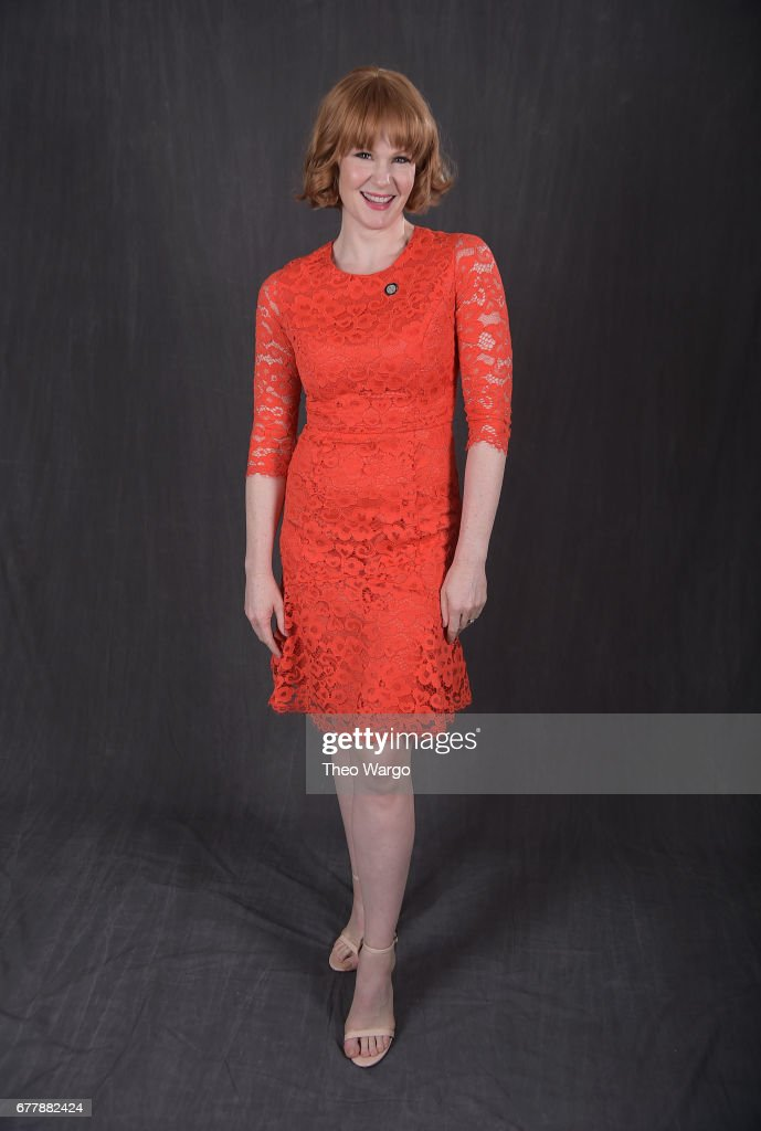 Kate Baldwin poses at the 2017 Tony Awards Meet The Nominees press junket portrait studio at Sofitel New York on May 3, 2017 in New York City.