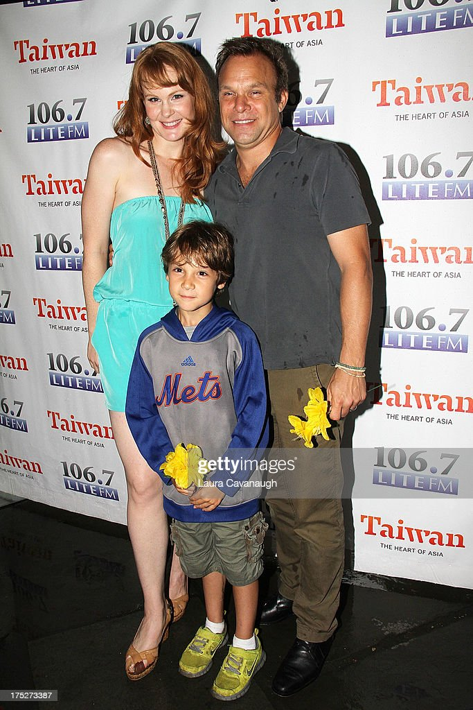 Kate Baldwin, Zachary Unger and Norbert Leo Butz attend 106.7 LITE FM's Broadway in Bryant Park 2013 at Bryant Park on August 1, 2013 in New York City.
