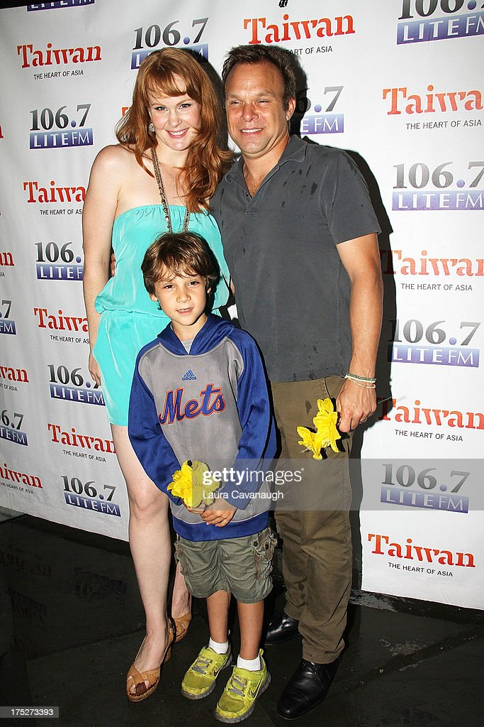 <a gi-track='captionPersonalityLinkClicked' href=/galleries/search?phrase=Kate+Baldwin&family=editorial&specificpeople=2656972 ng-click='$event.stopPropagation()'>Kate Baldwin</a>, Zachary Unger and <a gi-track='captionPersonalityLinkClicked' href=/galleries/search?phrase=Norbert+Leo+Butz&family=editorial&specificpeople=206859 ng-click='$event.stopPropagation()'>Norbert Leo Butz</a> attend 106.7 LITE FM's Broadway in Bryant Park 2013 at Bryant Park on August 1, 2013 in New York City.