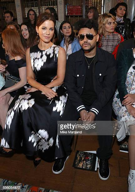 Kate Beckinsale and Abel Tesfaye attends the Christian Dior Spring Summer 2017 Cruise Collection at Blenheim Palace on May 31 2016 in Woodstock...