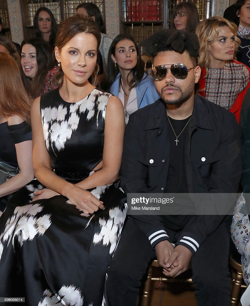 Kate Beckinsale and Abel Tesfaye attends the Christian Dior Spring Summer 2017 Cruise Collection at Blenheim Palace on May 31, 2016 in Woodstock, England.