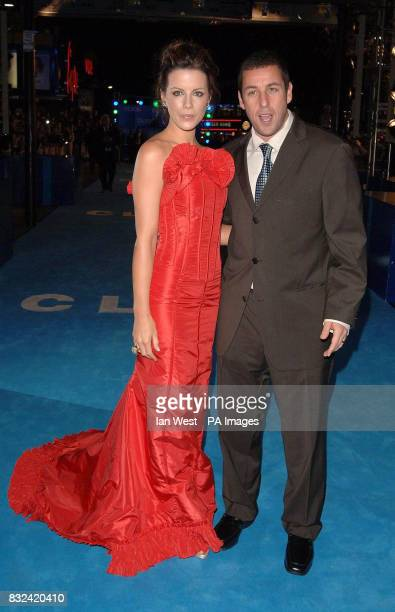 Kate Beckinsale and Adam Sandler attend the UK premiere of Click at the Empire Cinema Leicester Square central London