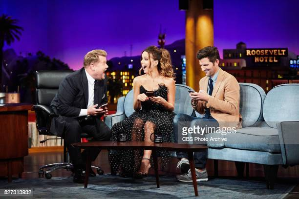 Kate Beckinsale and Adam Scott chat with James Corden during 'The Late Late Show with James Corden' Friday July 28 2017 On The CBS Television Network
