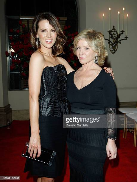 Kate Beckinsale and Alberta Ferretti attend the Alberta Ferretti And Vogue Limited Edition Collection 2013 Fashion Show And Dinner Hosted by Alberta...