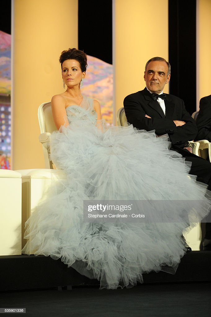 Kate beckinsale and Albertero Barbera at the Opening Ceremony of the 63rd Cannes International Film Festival