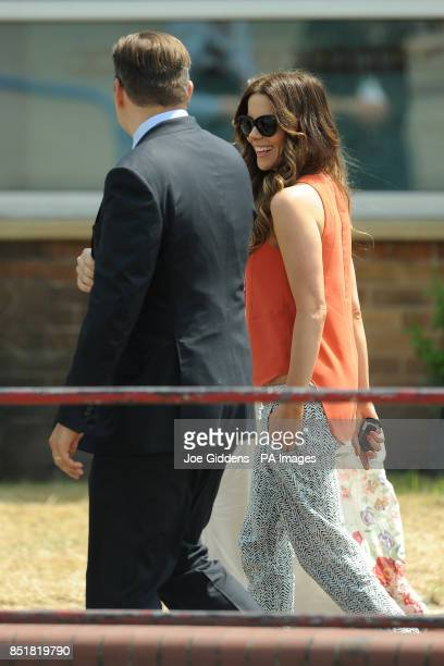 Kate Beckinsale and David Walliams during a visit to College House Junior School where the Hollywood actress unveiled a plaque in memory of her late...