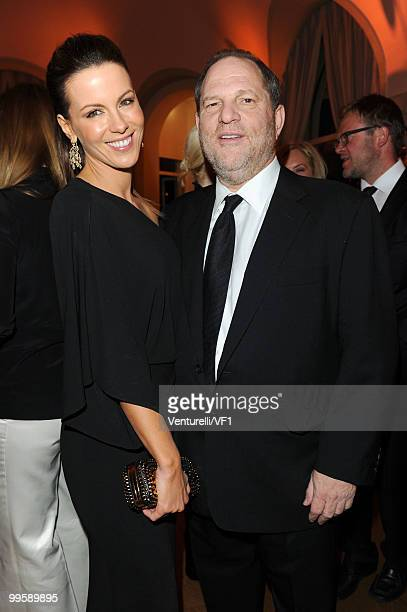 CANNES FRANCE MAY 15 Kate Beckinsale and Harvey Weinstein attend the Vanity Fair and Gucci Party Honoring Martin Scorsese during the 63rd Annual...