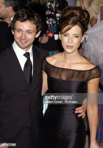 Kate Beckinsale and her partner Michael Sheen arriving at the Vanity Fair post Oscars party held at the Morton's restaurant in Los Angeles Kate is...