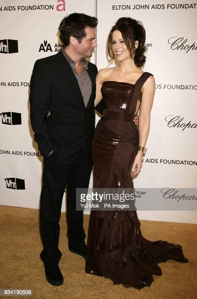 Kate Beckinsale and husband Len Wiseman arrive for the 16th Annual Sir Elton John AIDS Foundation Oscar Party at the Pacific Design Centre in Los...
