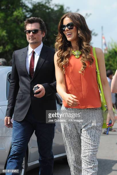 Kate Beckinsale and husband Len Wiseman during a visit to College House Junior School to unveil a plaque in memory of the late Richard Beckinsale who...