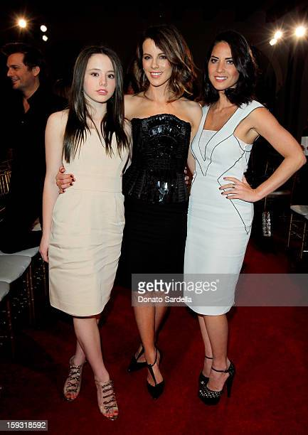 Kate Beckinsale and Olivia Munn attend the Alberta Ferretti And Vogue Limited Edition Collection 2013 Fashion Show And Dinner Hosted by Alberta...