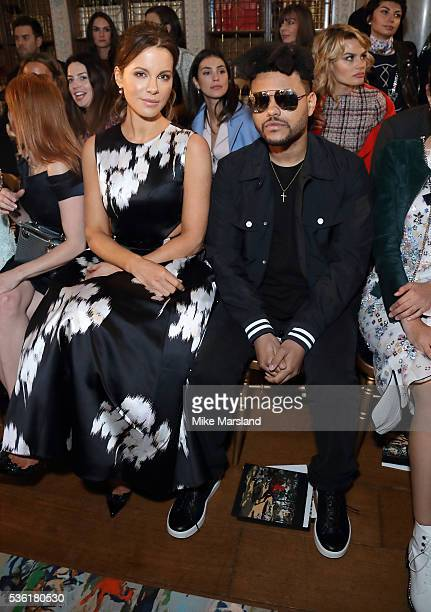 Kate Beckinsale and The Weeknd attend as Christian Dior showcases its spring summer 2017 cruise collection at Blenheim Palace on May 31 2016 in...