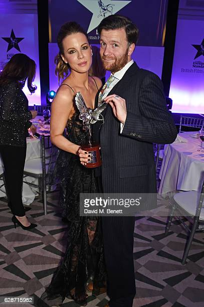 Kate Beckinsale and Tom Bennett attend The London Evening Standard British Film Awards at Claridge's Hotel on December 8 2016 in London England