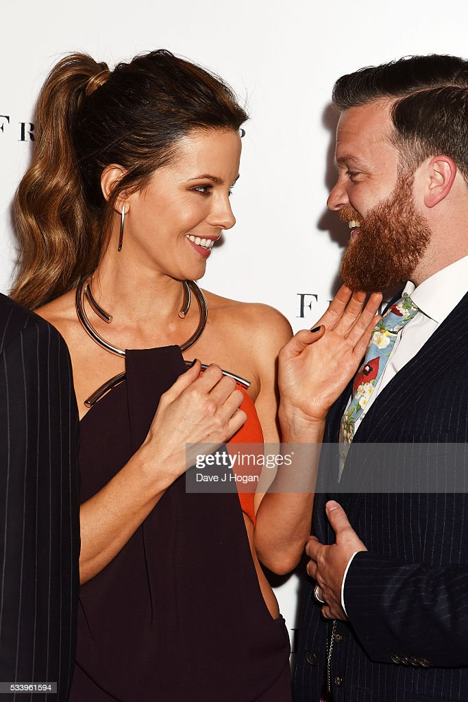 Kate Beckinsale (L) and Tom Bennett attend the UK premiere of 'Love and Friendship' at The Curzon Mayfair on May 24, 2016 in London, England.