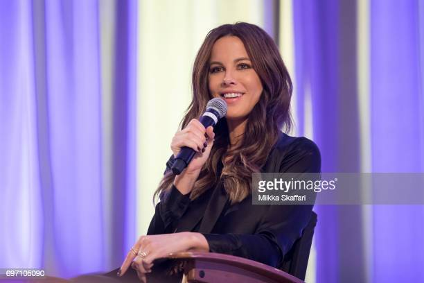 Kate Beckinsale answers audience questions during 'From Underworld to Wizard World A Conversation with Kate Beckinsale' session at Sacramento...