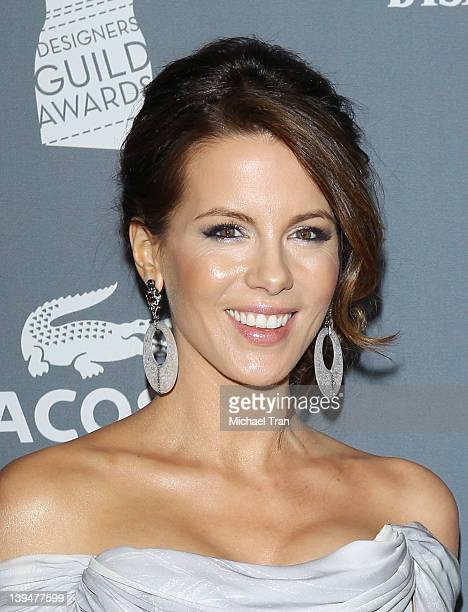 Kate Beckinsale arrives at the 14th Annual Costume Designers Guild Awards held at The Beverly Hilton Hotel on February 21 2012 in Beverly Hills...