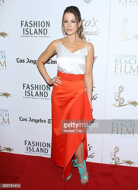 Kate Beckinsale arrives at the 17th Annual Newport Beach Film Festival honors reception held at The Balboa Bay Club and Resort on April 21 2016 in...
