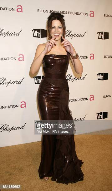 Kate Beckinsale arrives for the 16th Annual Sir Elton John AIDS Foundation Oscar Party at the Pacific Design Centre in Los Angeles