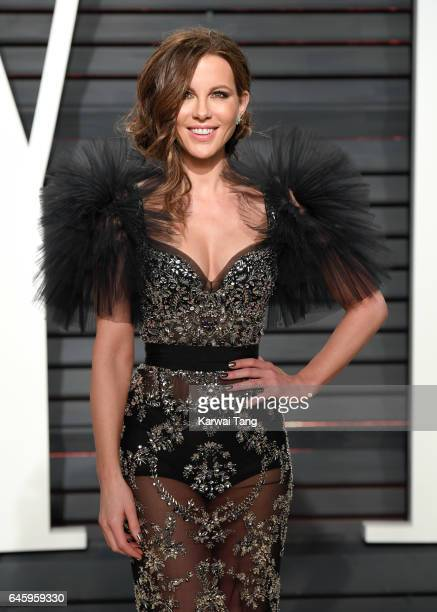 Kate Beckinsale arrives for the Vanity Fair Oscar Party hosted by Graydon Carter at the Wallis Annenberg Center for the Performing Arts on February...