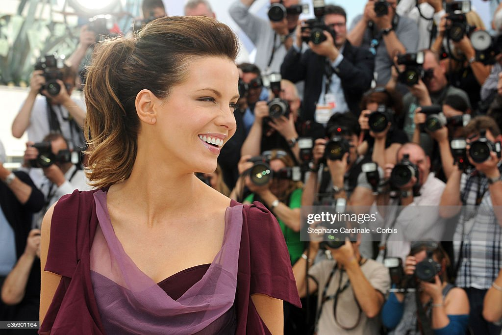 Kate Beckinsale at the Jury Photo Call during the 63rd Cannes International Film Festival.