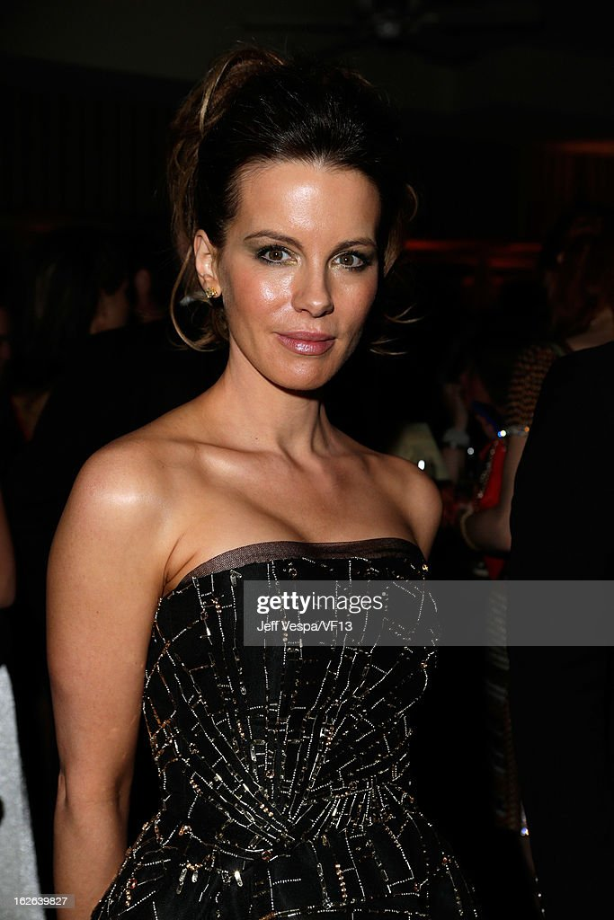 Kate Beckinsale attends the 2013 Vanity Fair Oscar Party hosted by Graydon Carter at Sunset Tower on February 24, 2013 in West Hollywood, California.