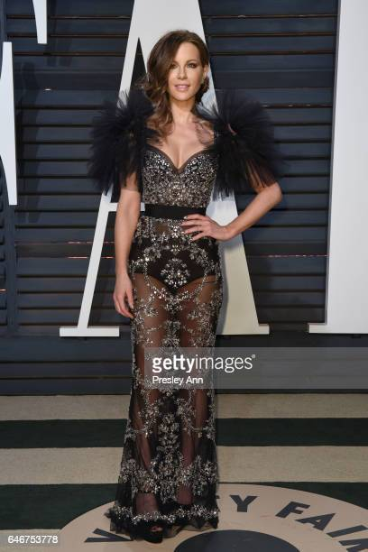 Kate Beckinsale attends the 2017 Vanity Fair Oscar Party hosted by Graydon Carter at Wallis Annenberg Center for the Performing Arts on February 26...