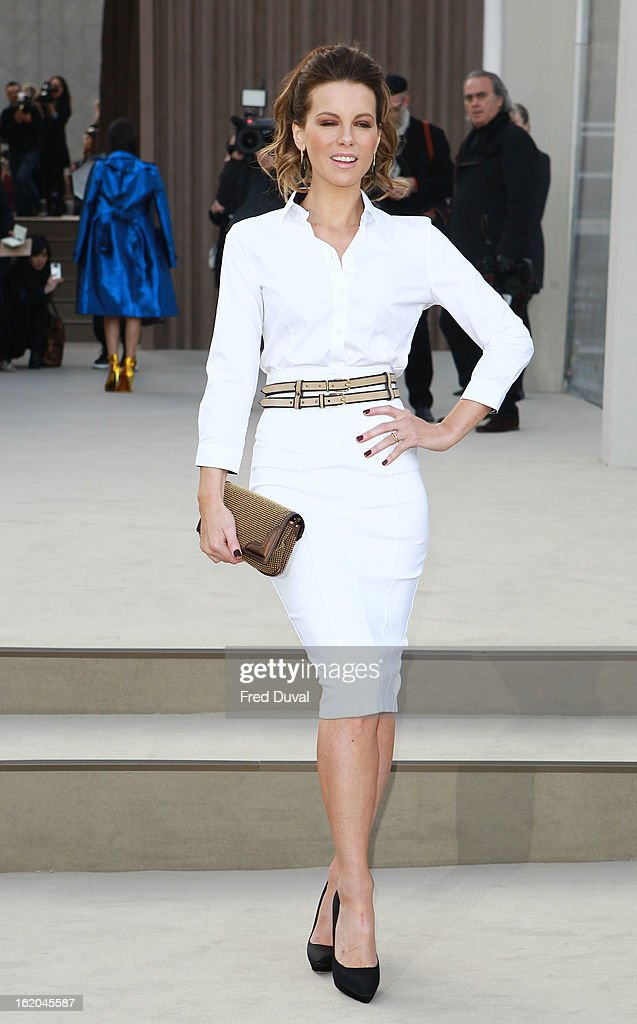 Kate Beckinsale attends the Burberry Prorsum show during London Fashion Week Fall/Winter 2013/14 at on February 18, 2013 in London, England.