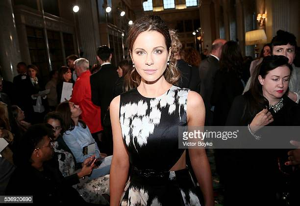 Kate Beckinsale attends the Dior Cruise Collection show 2017 at Blenheim Palace on May 31 2016 in Woodstock England