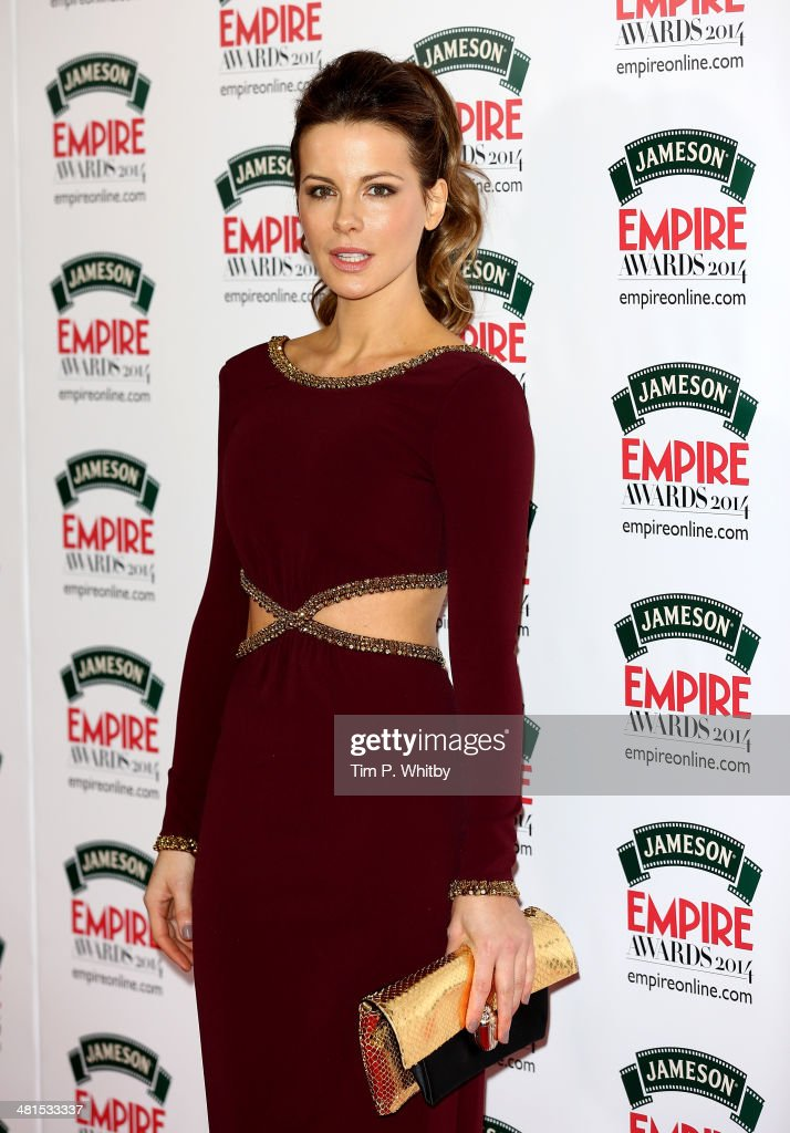 <a gi-track='captionPersonalityLinkClicked' href=/galleries/search?phrase=Kate+Beckinsale&family=editorial&specificpeople=202911 ng-click='$event.stopPropagation()'>Kate Beckinsale</a> attends the Jameson Empire Awards 2014 at the Grosvenor House Hotel on March 30, 2014 in London, England. Regarded as a relaxed end to the awards show season, the Jameson Empire Awards celebrate the film industry's success stories of the year with winners being voted for entirely by members of the public. Visit empireonline.com/awards2014 for more information.