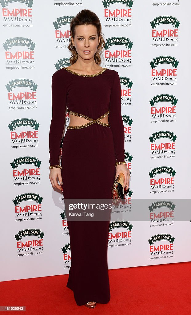 Kate Beckinsale attends the Jameson Empire Film Awards at Grosvenor House on March 30, 2014 in London, England.