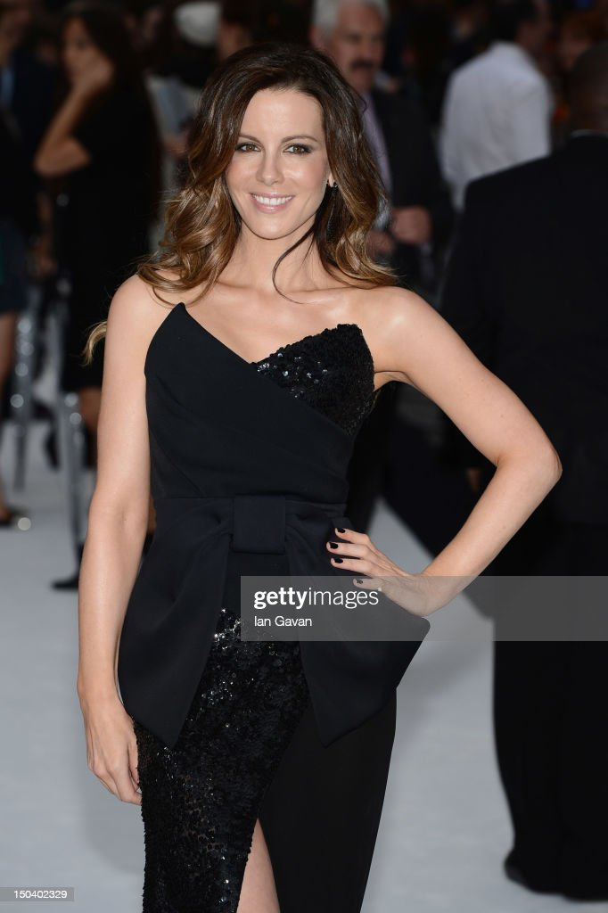 Kate Beckinsale attends the 'Total Recall' UK premiere at Vue West End on August 16, 2012 in London, England.