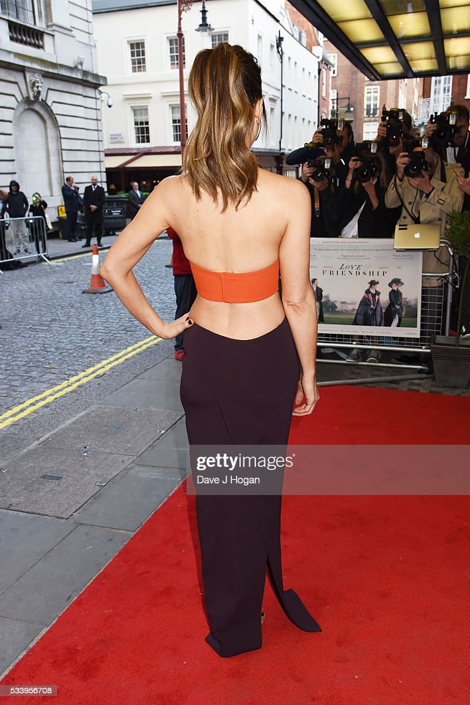 <a gi-track='captionPersonalityLinkClicked' href=/galleries/search?phrase=Kate+Beckinsale&family=editorial&specificpeople=202911 ng-click='$event.stopPropagation()'>Kate Beckinsale</a>, dress detail, attends the UK premiere of 'Love and Friendship' at The Curzon Mayfair on May 24, 2016 in London, England.