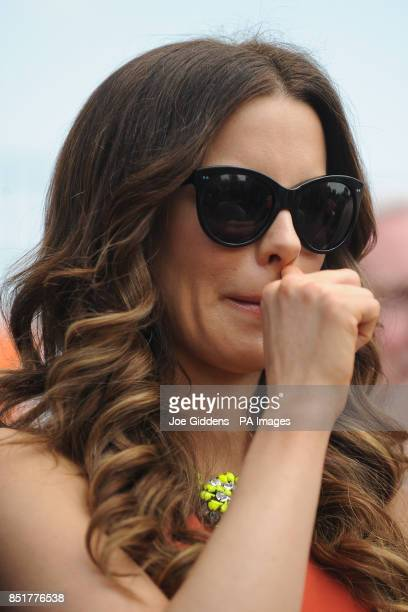 Kate Beckinsale during a visit to College House Junior School to unveil a plaque in memory of her late father Richard Beckinsale who was a pupil at...