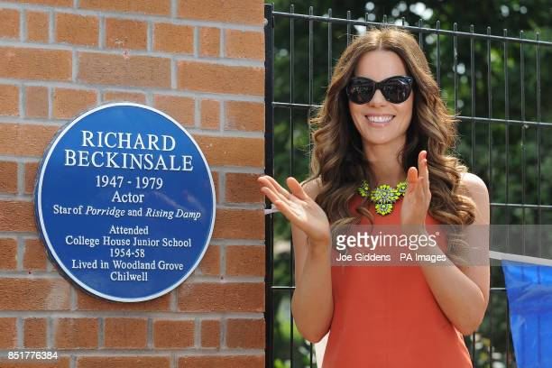 Kate Beckinsale during a visit to College House Junior School where she unveiled a plaque in memory of her late father Richard Beckinsale who was a...