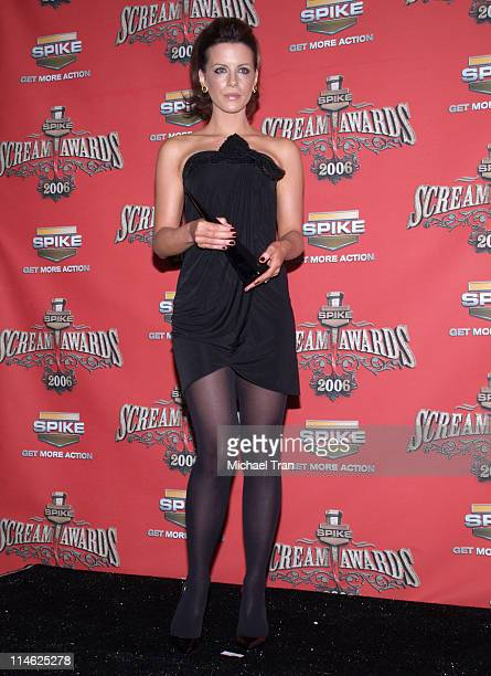 Kate Beckinsale during Spike TV's 'Scream Awards 2006' Press Room at Pantages Theater in Hollywood California United States