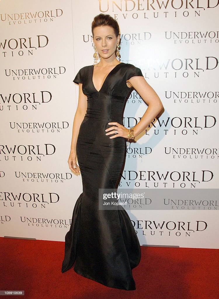 Kate Beckinsale during 'Underworld Evolution' Los Angeles Premiere Arrivals at Cinerama Dome in Hollywood California United States