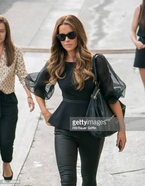 Kate Beckinsale is seen at 'Jimmy Kimmel Live' on August 01 2017 in Los Angeles California