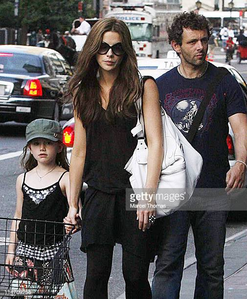 Kate Beckinsale Lilly Beckinsale and Michael Sheen