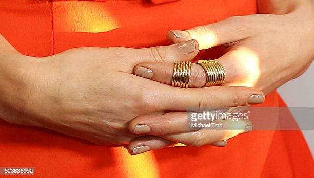 Kate Beckinsale nail polish and rings detail arrives at the 17th Annual Newport Beach Film Festival honors reception held at The Balboa Bay Club and...