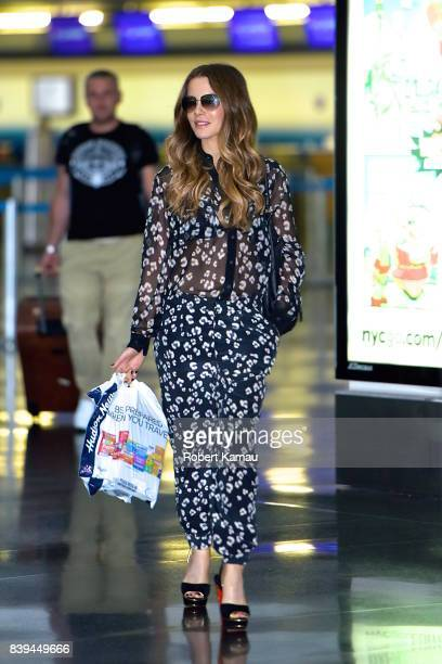 Kate Beckinsale seen at JFK Airport on August 26 2017 in New York City