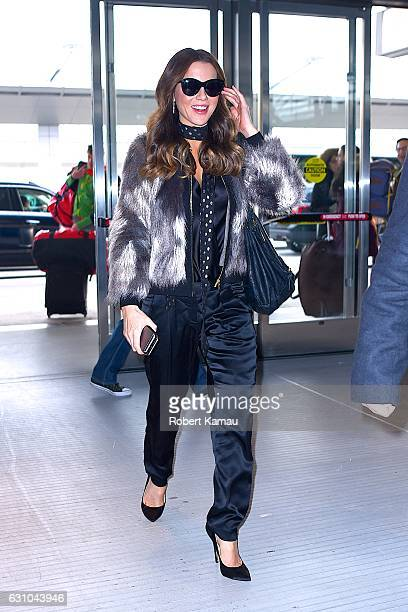 Kate Beckinsale seen at JFK Airport on January 5 2017 in New York City