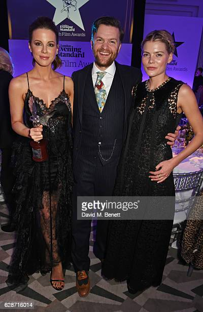 Kate Beckinsale Tom Bennett and Emma Greenwell attend The London Evening Standard British Film Awards at Claridge's Hotel on December 8 2016 in...