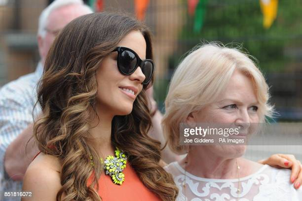 Kate Beckinsale with mother Judy Loe during a visit to College House Junior School where the Hollywood actress unveiled a plaque in memory of her...