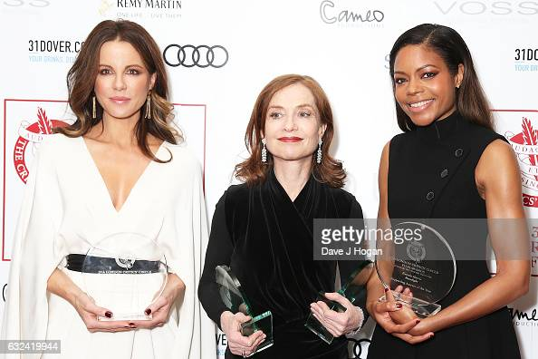 Kate Beckinsale with the award for British/Irish Actress of the Year Naomie Harris with the award for Supporting Actress of the Year and Isabelle...